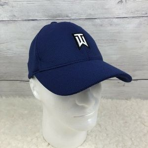 Nike Tiger Woods Hat Blue Flex Fit Large XL Golf